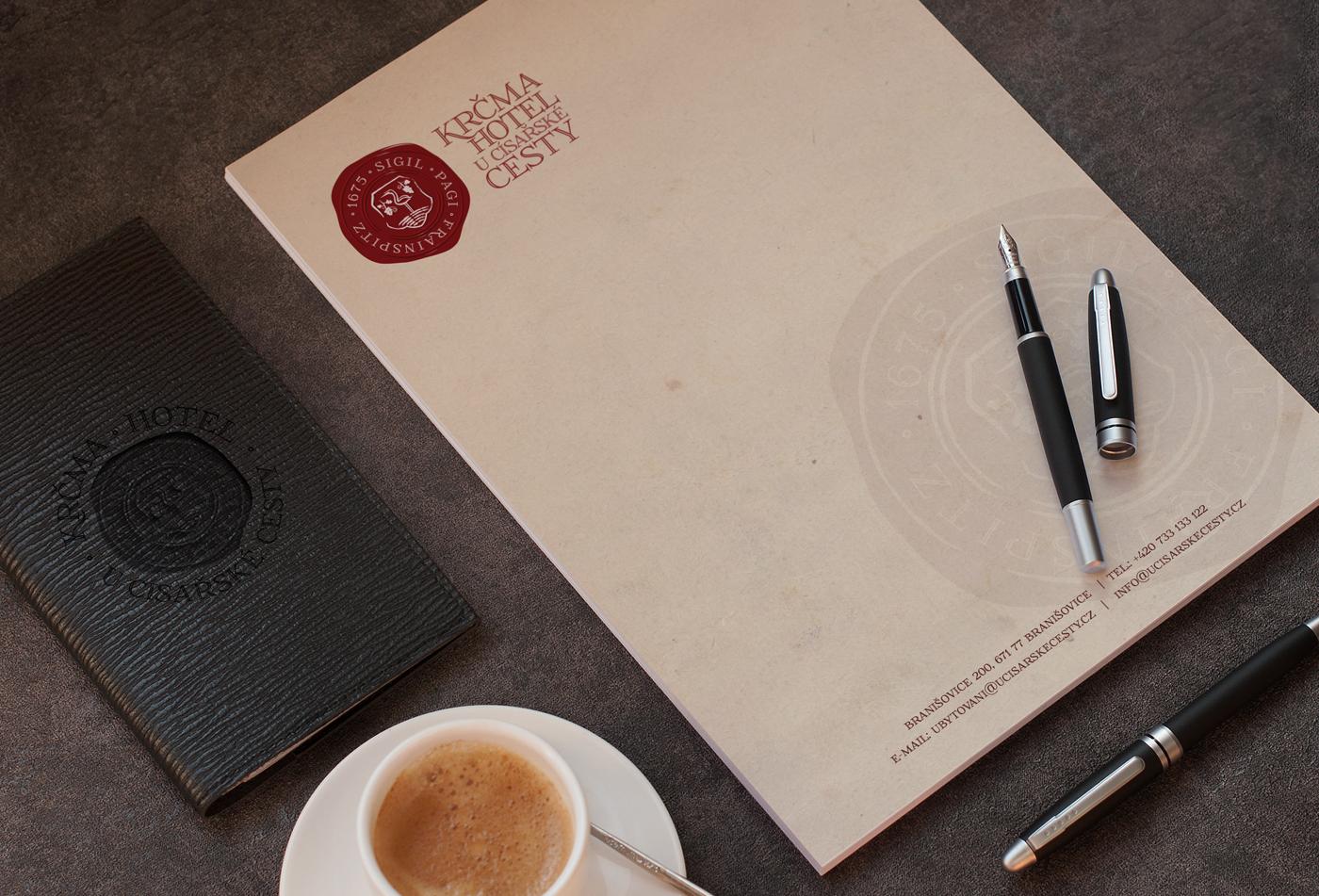 Envelopes Letterheads Design Orange Cup Studio
