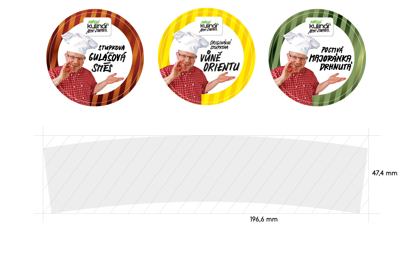 Labels circle - Kulinar Seasoning