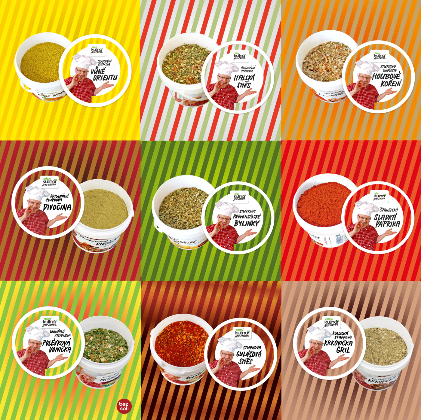 Labels - colors, lines - Kulinar Seasoning