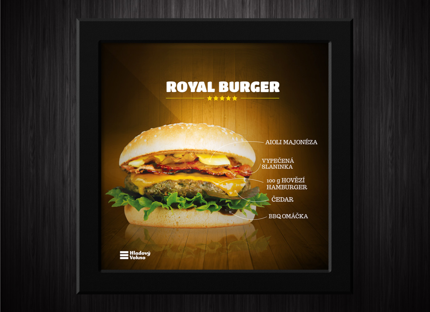 Leaflet on the wall - Burger