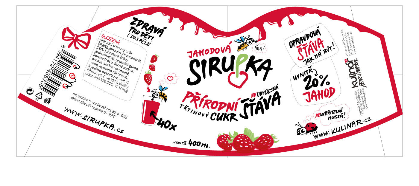 Bottle Design label - Sirupka Squash