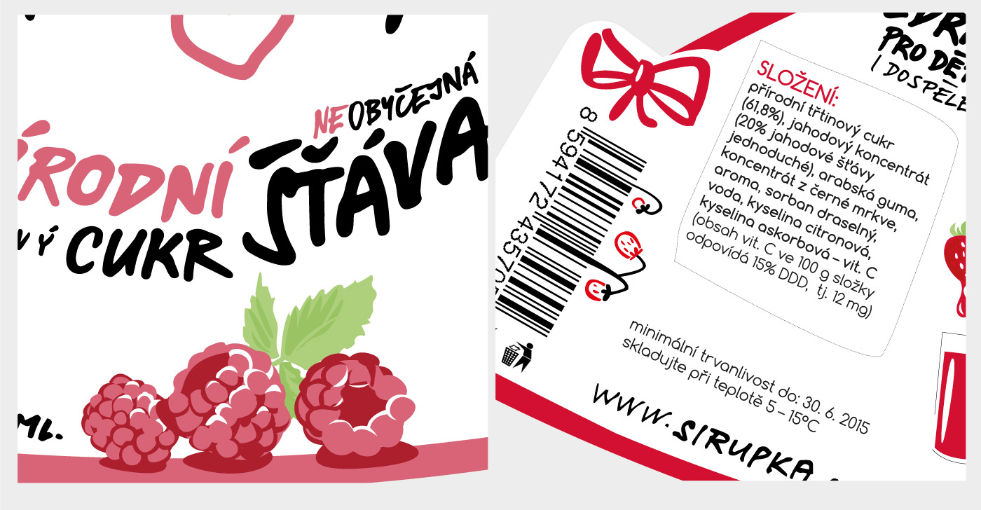 Bottle Design label detail - Sirupka Squash