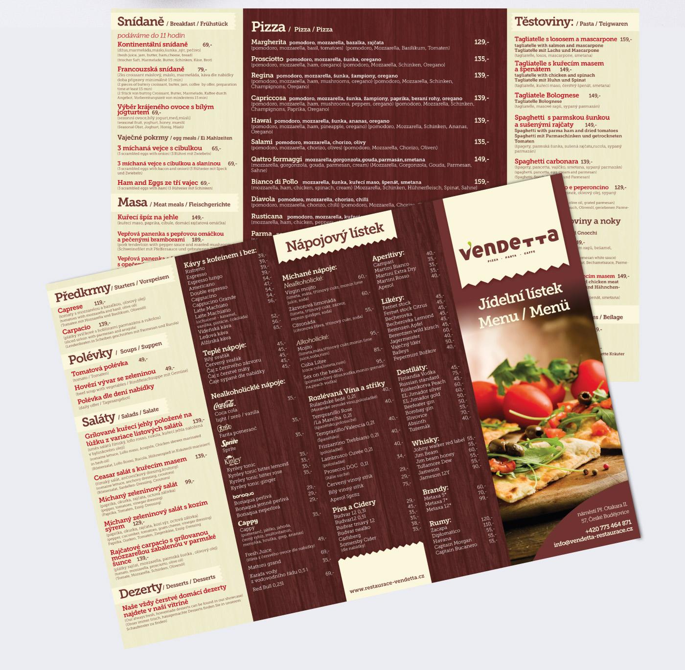 Restaurant menu design orange cup studio